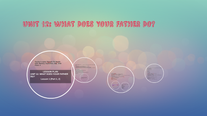 UNIT 12: WHAT DOES YOUR FATHER DO? by Nguyễn Huyền on Prezi