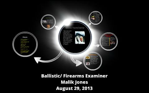 Ballistics Firearms Examiner By Malik Jones