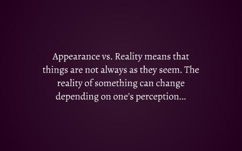 appearance versus reality macbeth essay