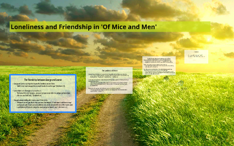 examples of friendship in of mice and men
