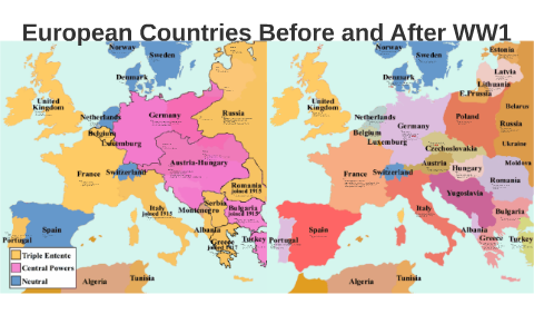 History 12 European Countries Before And After Ww1 By Alyssa