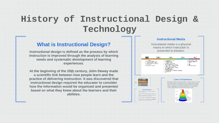 History Of Instructional Design Amp Technology By Andria Roaden