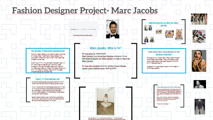Fashion Designer Project Marc Jacobs By Nicole E