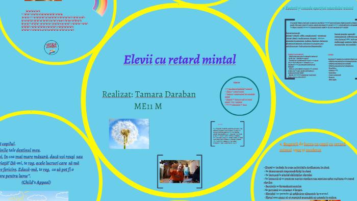 tulburări de vedere și retard mental)