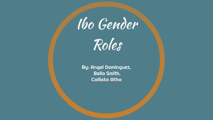 igbo tribe gender roles