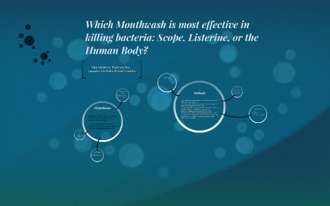 effect of mouthwash on bacteria experiment