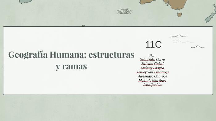 Geografía Humana Estructuras Y Ramas By Melany Loayza On Prezi