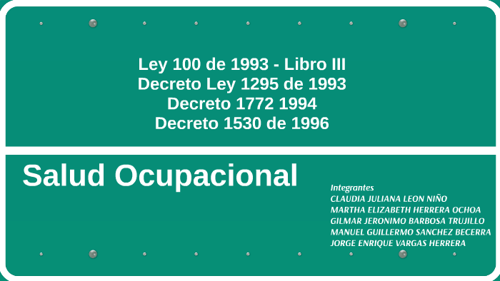 Ley 100 De 1993 Libro Iii By Juliana Nino