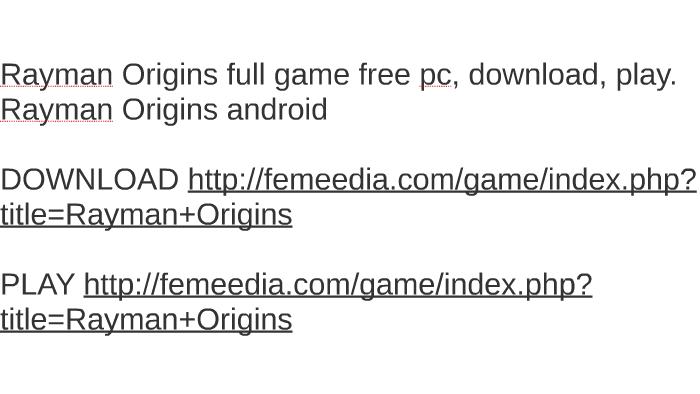 rayman origins pc download