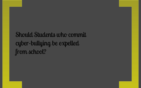 should students who commit cyberbullying be suspended from school