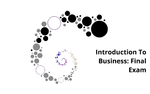 Introduction To Business: Final Exam by Shelby Roberts on Prezi
