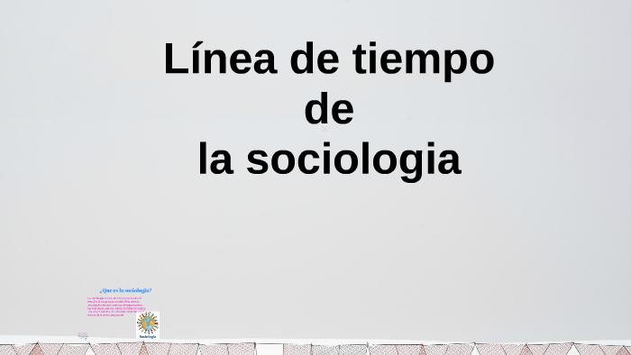 Linea Del Tiempo De La Sociología By Martha Béjar On Prezi