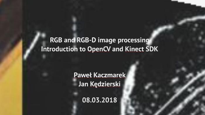 RGB/RGB-D Processing with URBI by jan kedzierski on Prezi