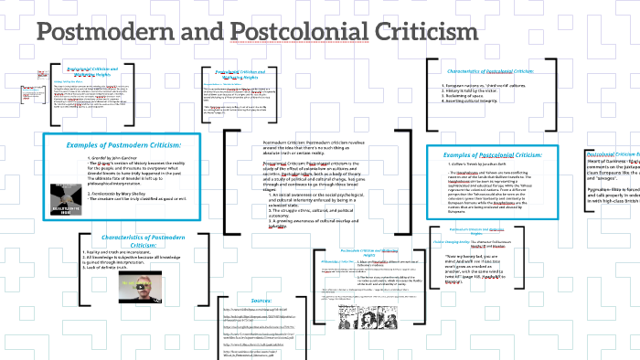 Postmodern Criticism: Postmodern criticism revolves around t