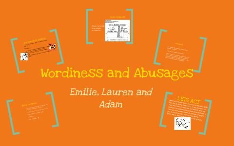 wordiness definition examples