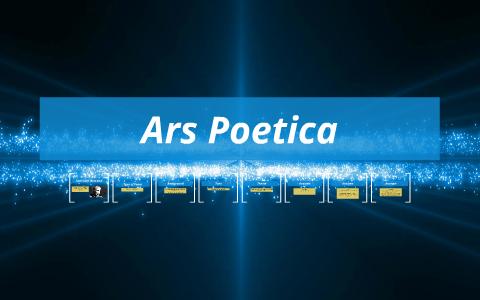 ars poetica analysis