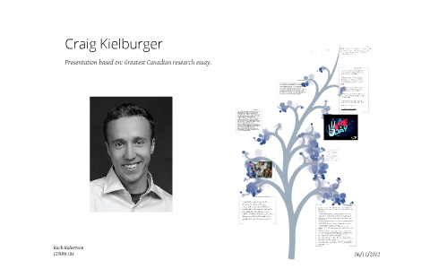 essay on craig kielburger