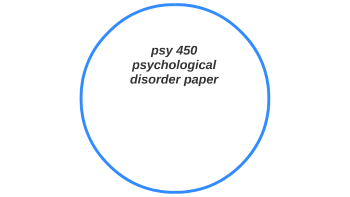 psychological disorder paper