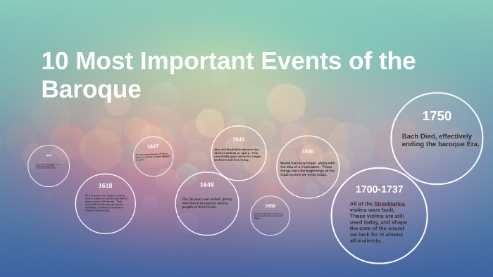 10 Most Important Events Of The Baroque By Tyson Eli On Prezi