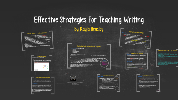 Effective Strategies For Teaching Writing by Kayla Hensley