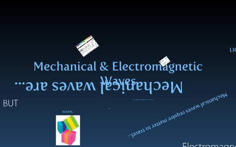 The difference between Mechanical and Electromagnetic Waves by