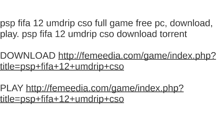 Fifa 12 Download Torrent Pc