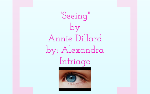 dillard seeing