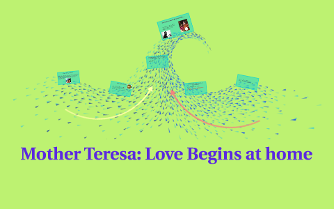 Mother teresa love begins at home speech transcript