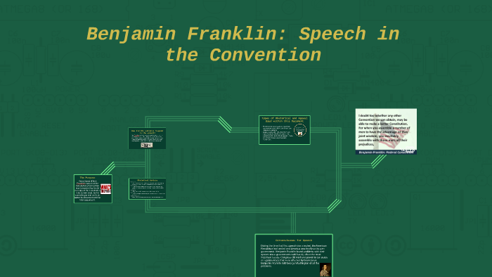 ben franklin speech in the convention summary