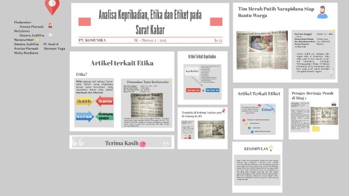 Analisa Kepribadian Etika Dan Etiket Pada Surat Kabar By Dezara