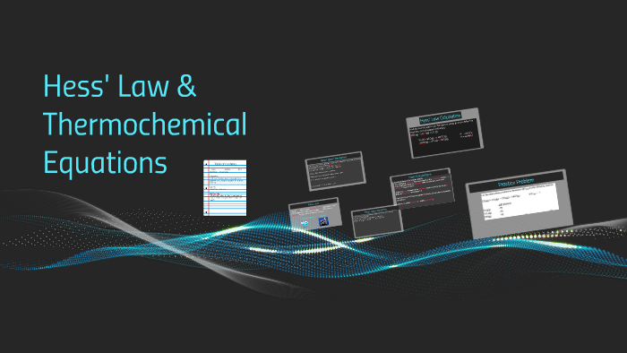 Hess' Law & Thermochemical Equations by Rachel Esquibel on Prezi
