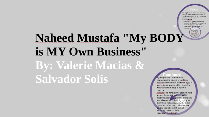 my body is my own business by naheed mustafa thesis