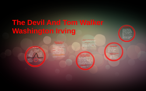 the devil and tom walker literary devices
