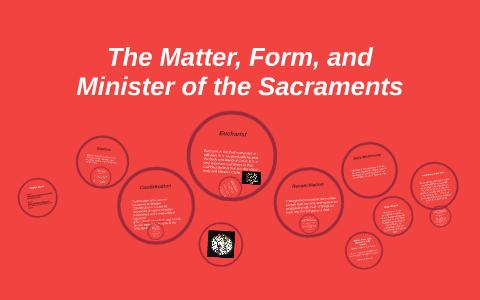 Matter, Form, and Minister: The Sacraments by Adam Kuczynski