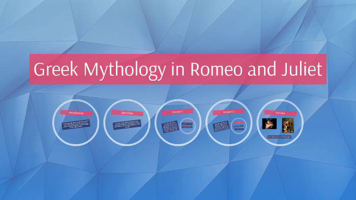 greek mythology allusions in romeo and juliet