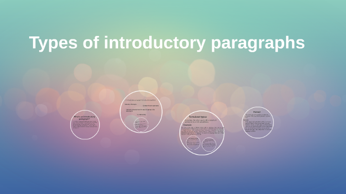 types of introductory paragraphs