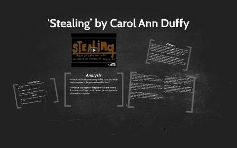 stealing carol ann duffy analysis