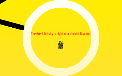 marxist reading of the great gatsby