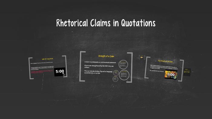 what is a rhetorical claim