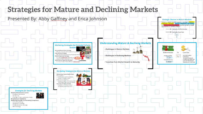 strategies for mature and declining markets