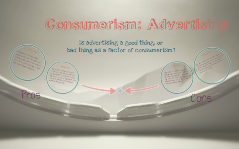 pros and cons of consumerism