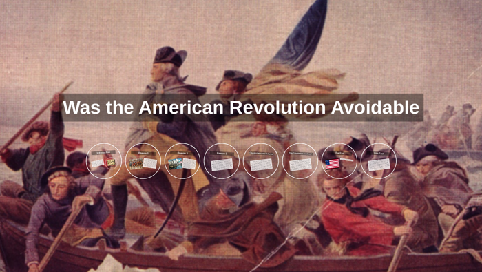 was the american revolution avoidable