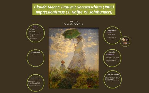 Claude Monet Frau Mit Sonnenschirm 1886 By Sophie Vargas On Prezi