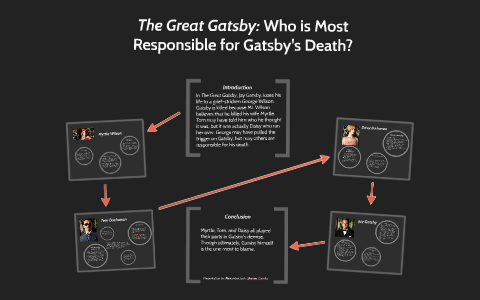 who is responsible for gatsbys death prezi