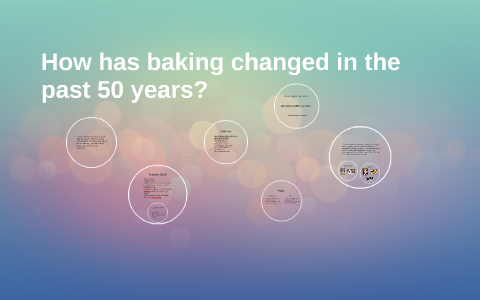 how has baking changed over the years
