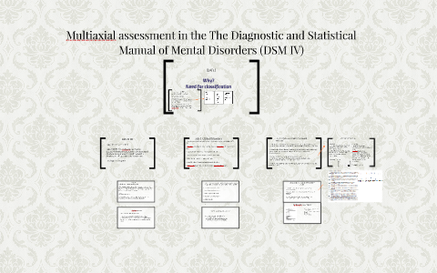 Multiaxial assesment in the The Diagnostic and Statistical M