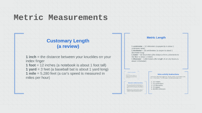 Measurements by Alyssa Bossi on Prezi