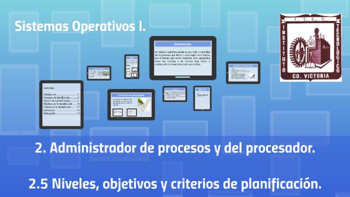 2 5 Niveles, objetivos y criterios de planificacion by