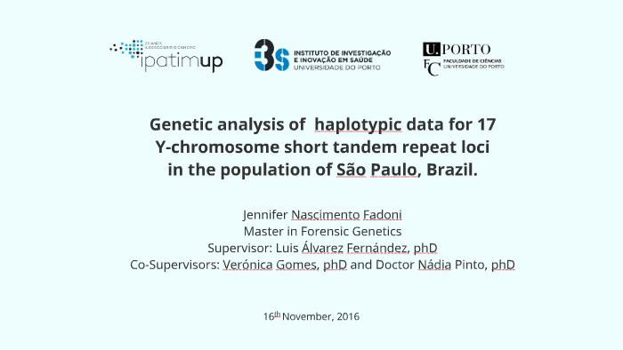 Genetic analysis of haplotypic data for 17 Y-chromosome sho by Jenni