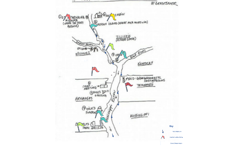 Map of Huck and Jim\'s Journey Period 3 by Shannon Clark-Reed ...